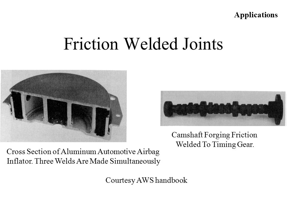 Friction Welded Joints