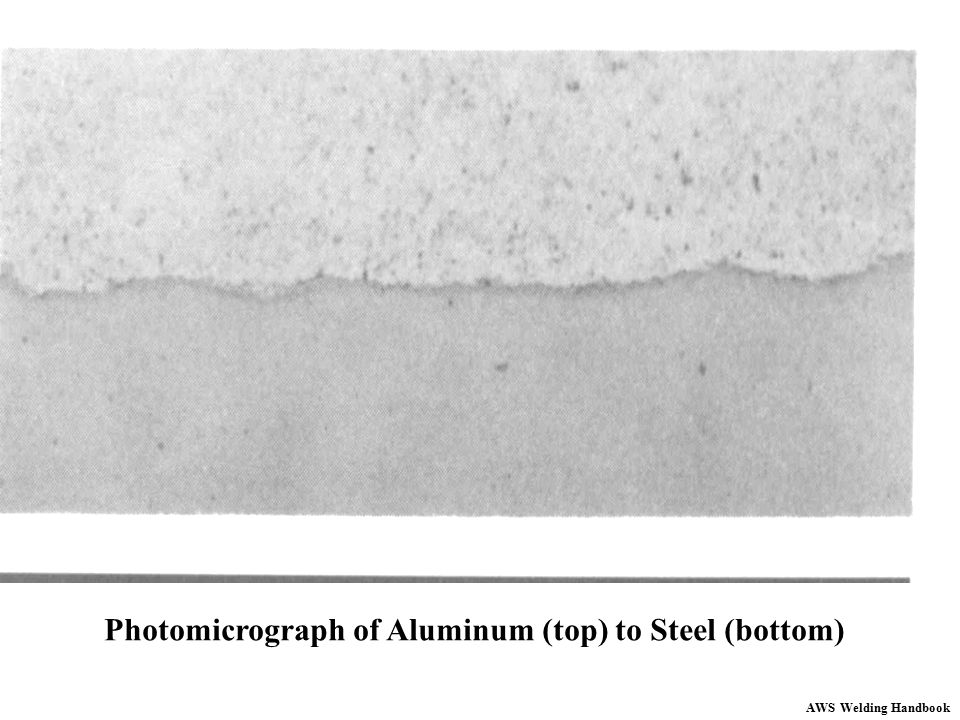Photomicrograph of Aluminum (top) to Steel (bottom)