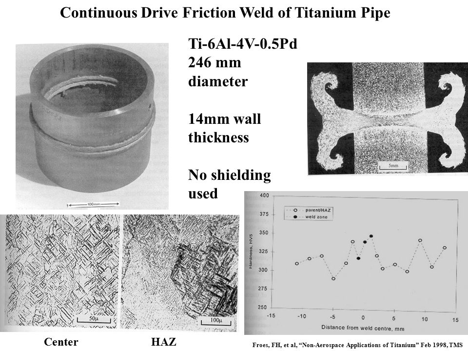 Continuous Drive Friction Weld of Titanium Pipe
