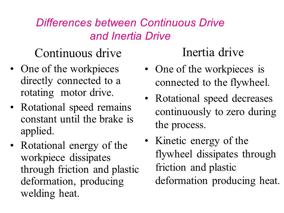 Differences between Continuous Drive