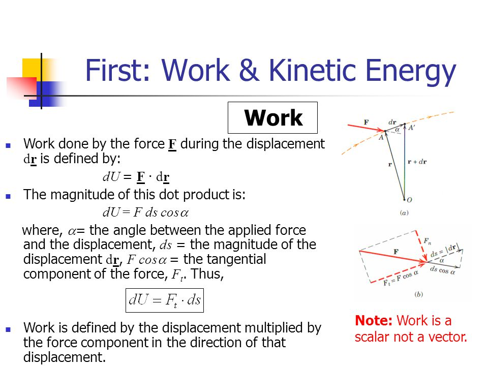 First: Work & Kinetic Energy