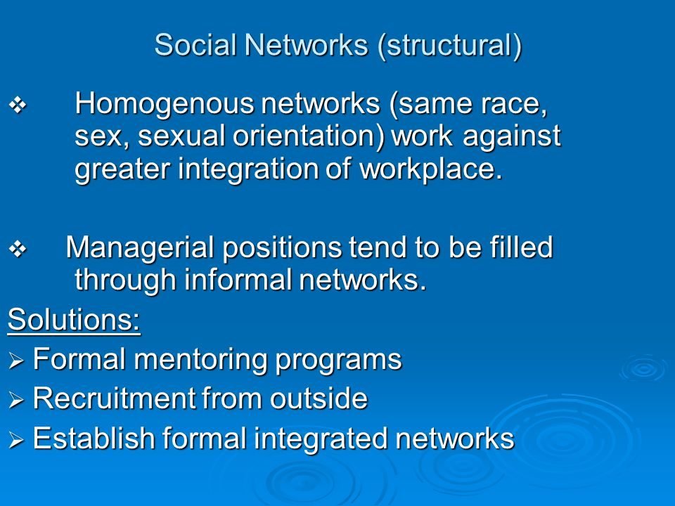 Social Networks (structural)