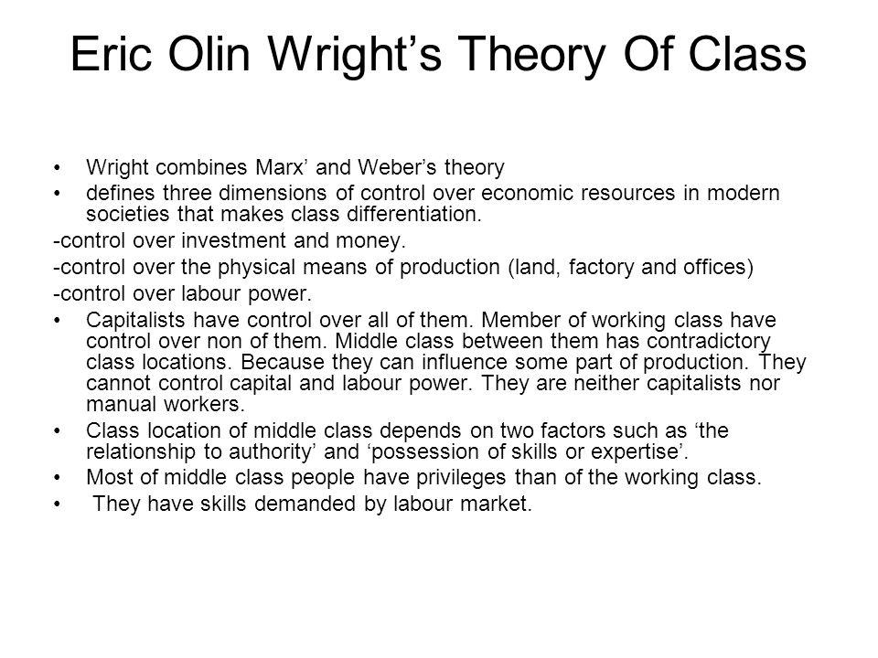Eric Olin Wright's Theory Of Class