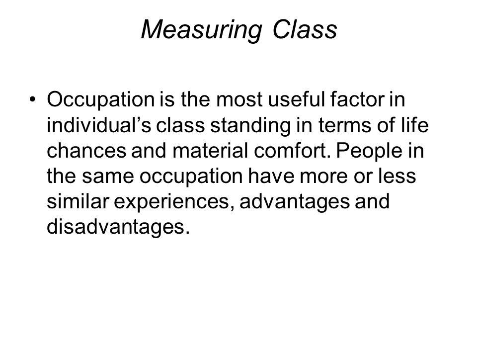 Measuring Class