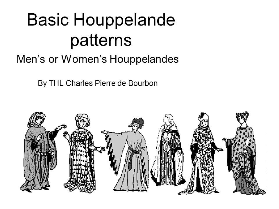 Basic Houppelande patterns