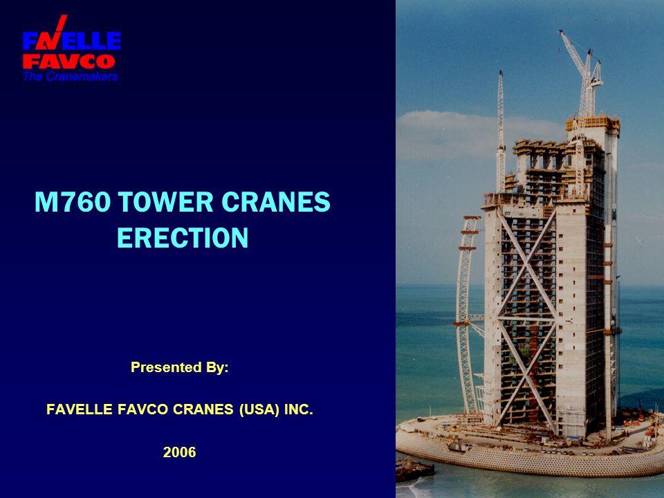 M760 TOWER CRANES ERECTION