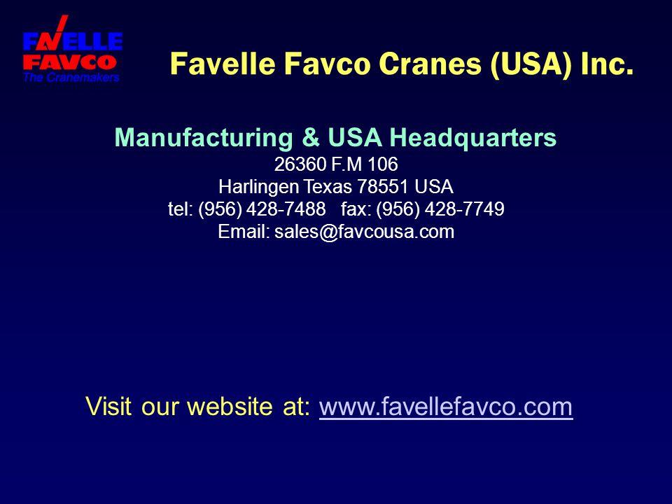 Favelle Favco Cranes (USA) Inc.