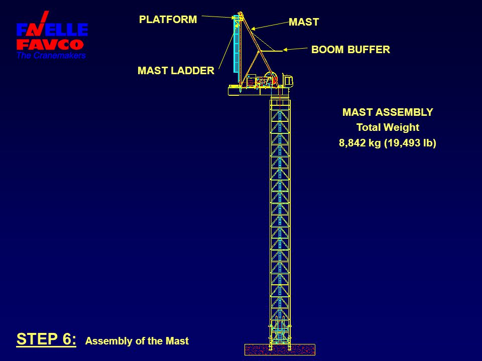 STEP 6: Assembly of the Mast