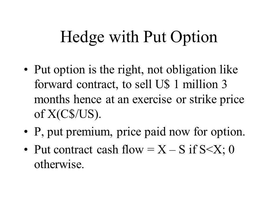 Hedge with Put Option