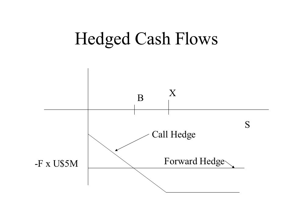 Hedged Cash Flows X B S Call Hedge Forward Hedge -F x U$5M