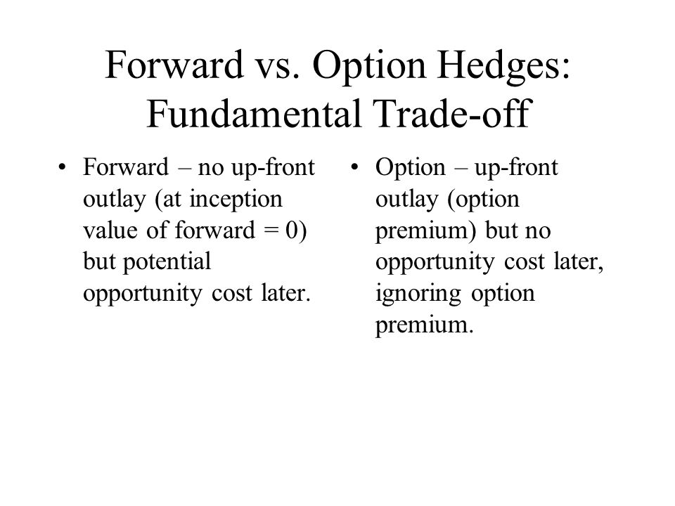 Forward vs. Option Hedges: Fundamental Trade-off