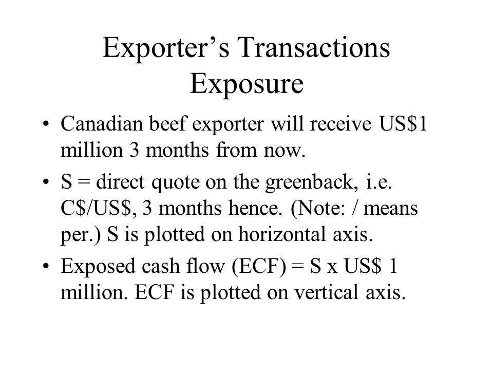 Exporter's Transactions Exposure