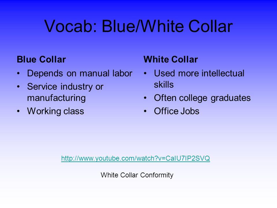 Vocab: Blue/White Collar