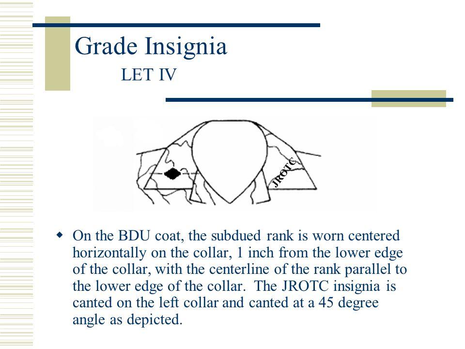 Grade Insignia LET IV JROTC.