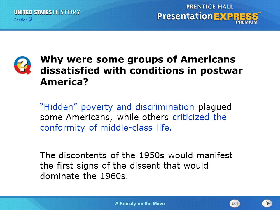 Why were some groups of Americans dissatisfied with conditions in postwar America