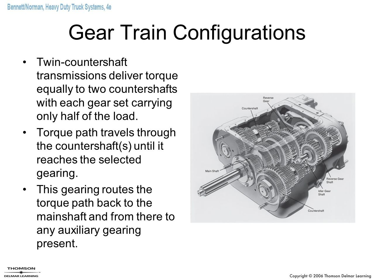 Gear Train Configurations