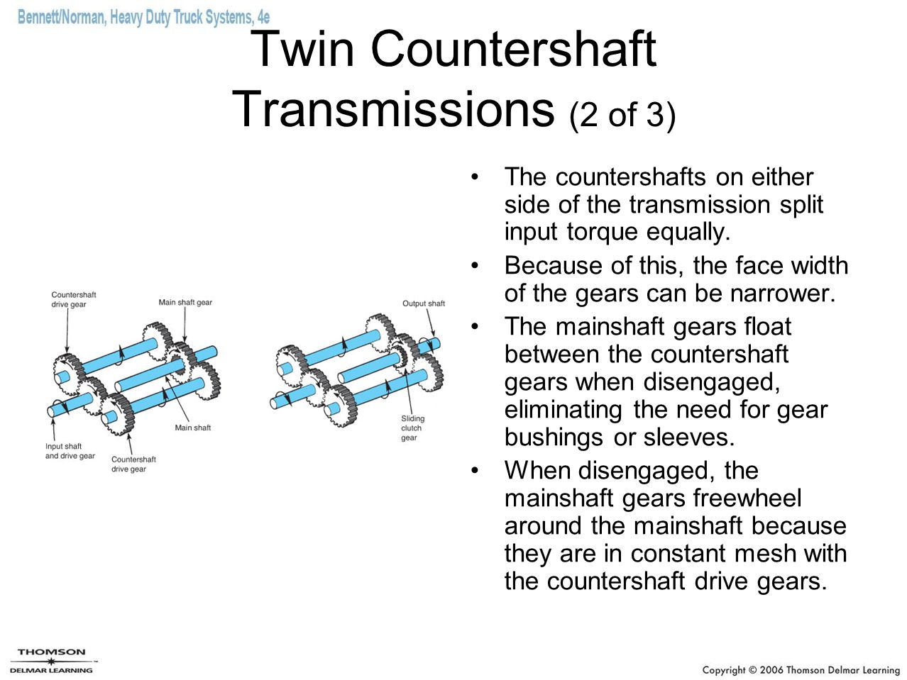Twin Countershaft Transmissions (2 of 3)