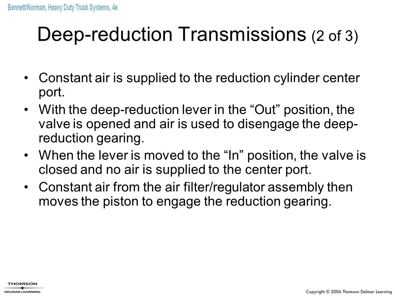Deep-reduction Transmissions (2 of 3)