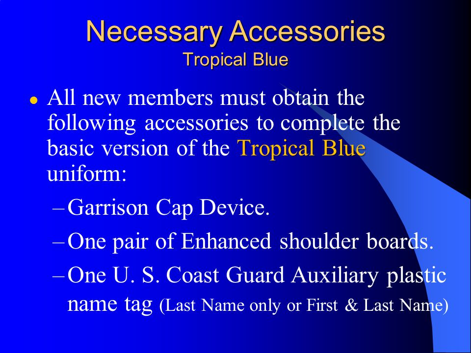 Necessary Accessories Tropical Blue