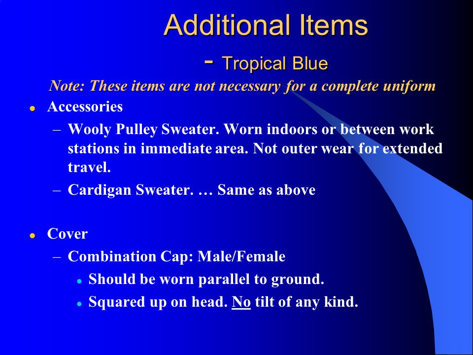 Additional Items - Tropical Blue