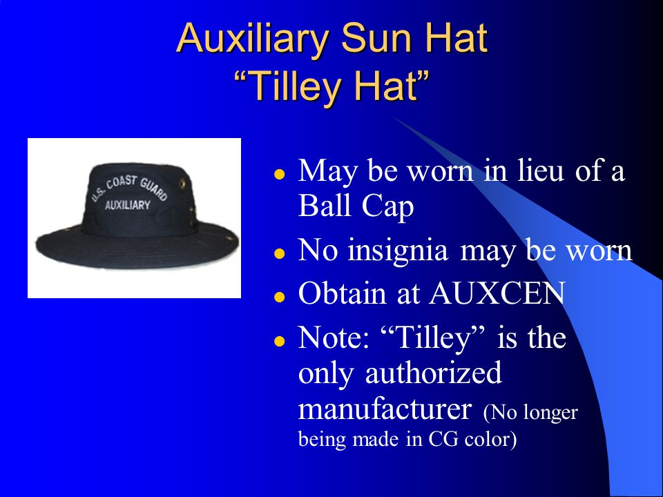 Auxiliary Sun Hat Tilley Hat