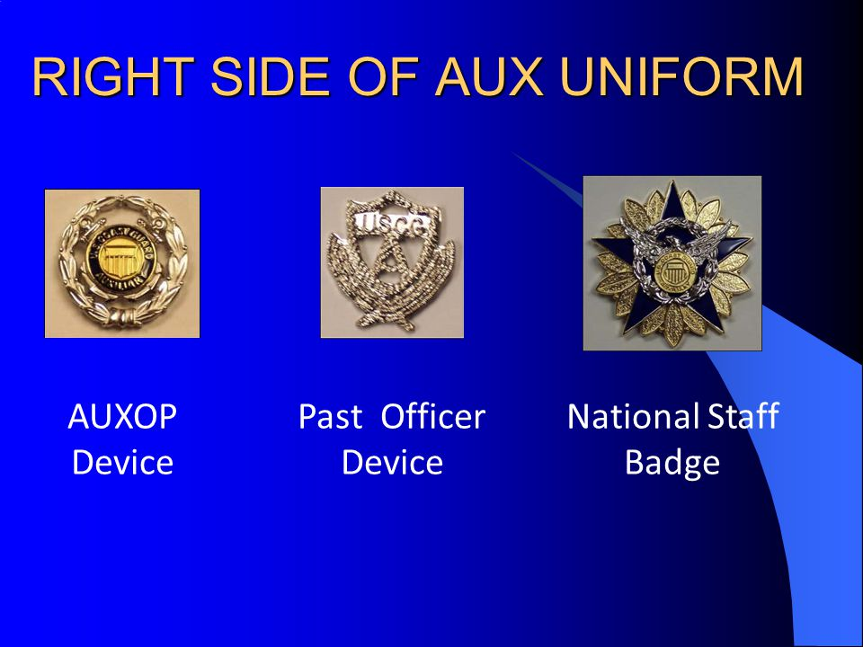 RIGHT SIDE OF AUX UNIFORM
