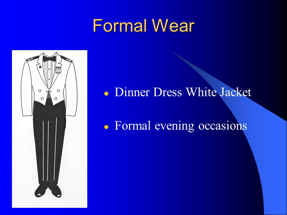 Formal Wear Dinner Dress White Jacket Formal evening occasions