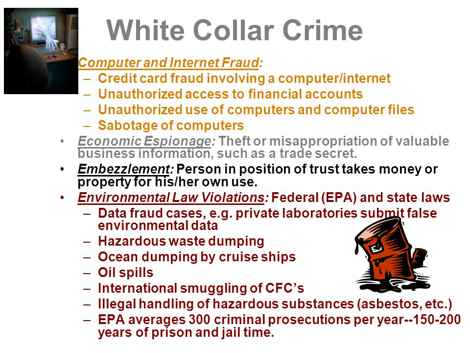 White Collar Crime Computer and Internet Fraud: