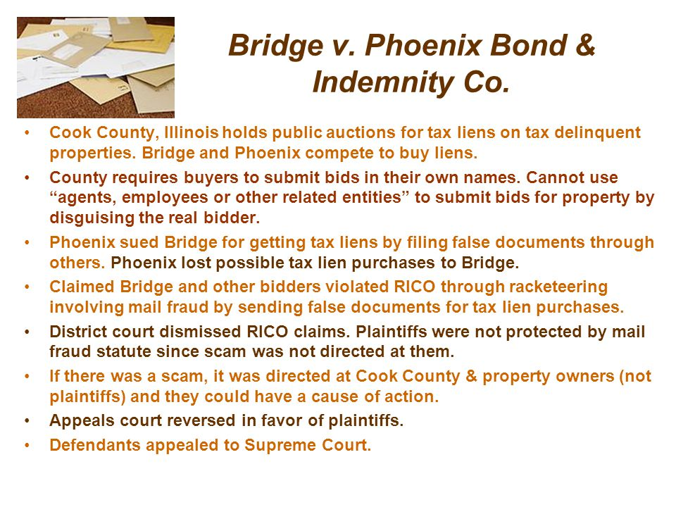 Bridge v. Phoenix Bond & Indemnity Co.