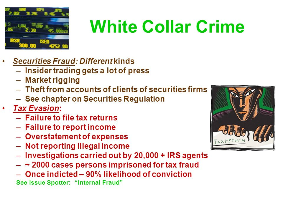 White Collar Crime Securities Fraud: Different kinds