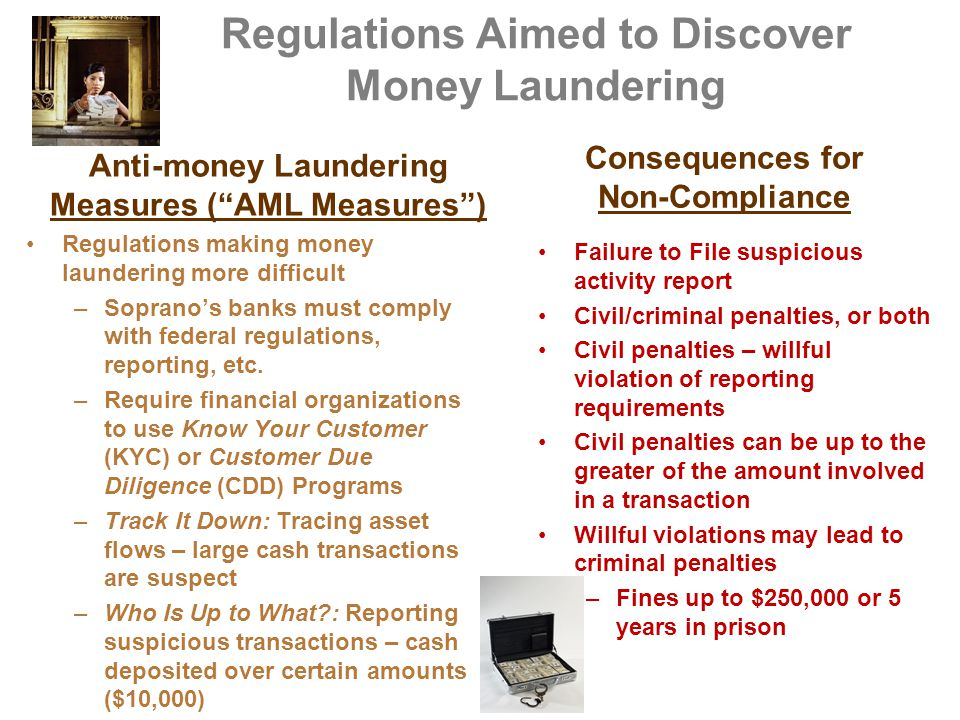 Regulations Aimed to Discover Money Laundering
