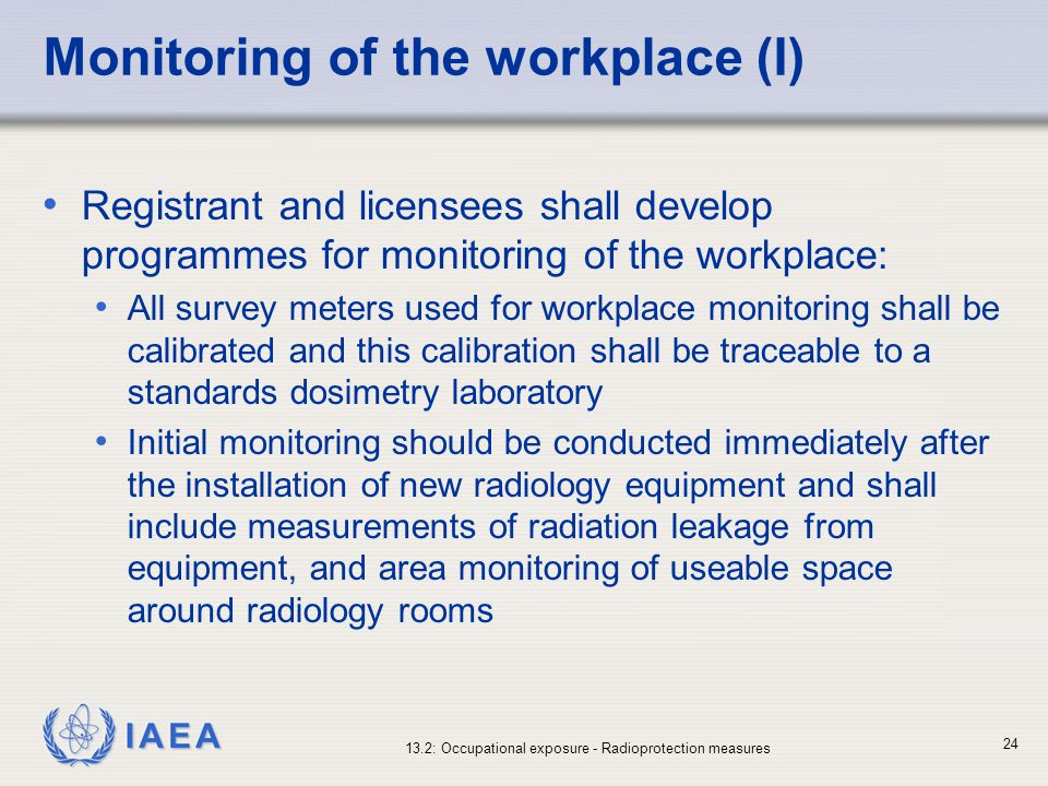 Monitoring of the workplace (I)