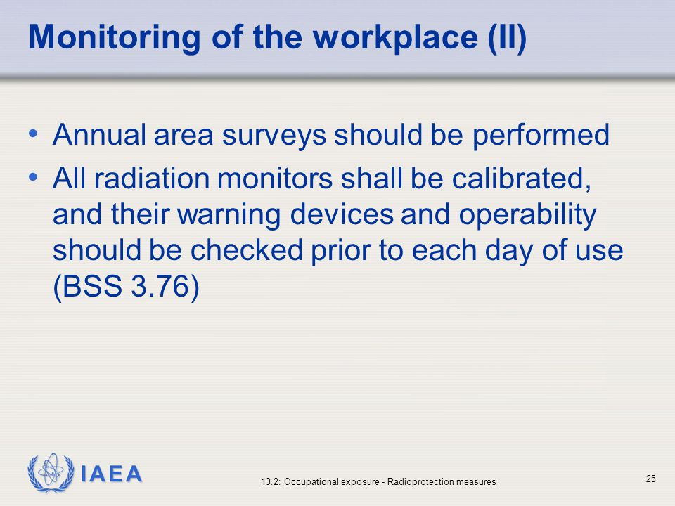 Monitoring of the workplace (II)