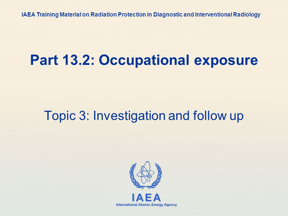 Part 13.2: Occupational exposure