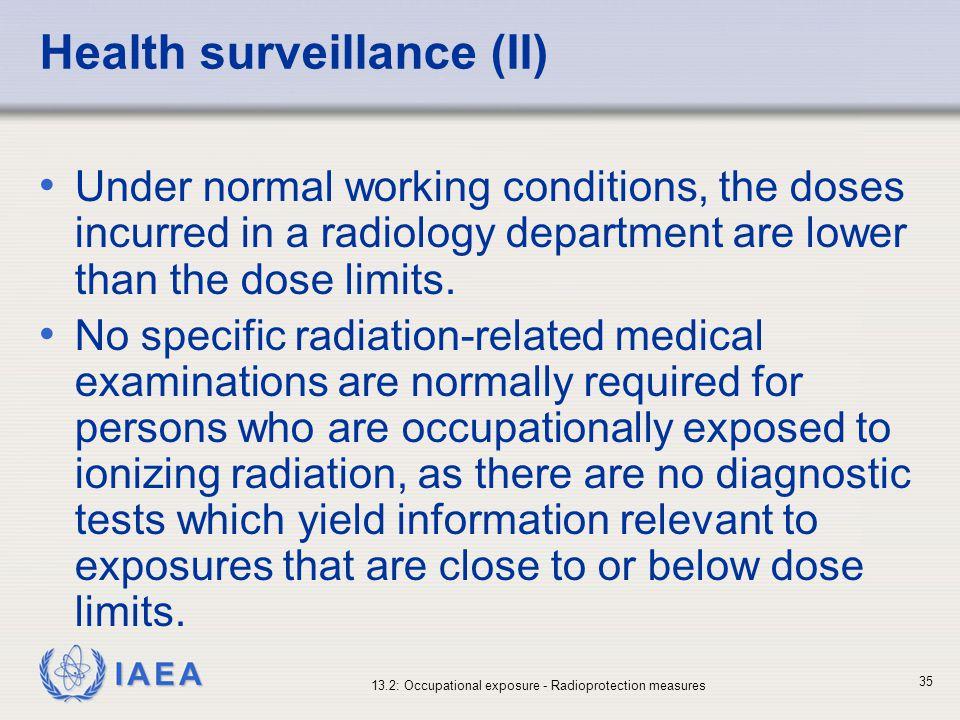 Health surveillance (II)