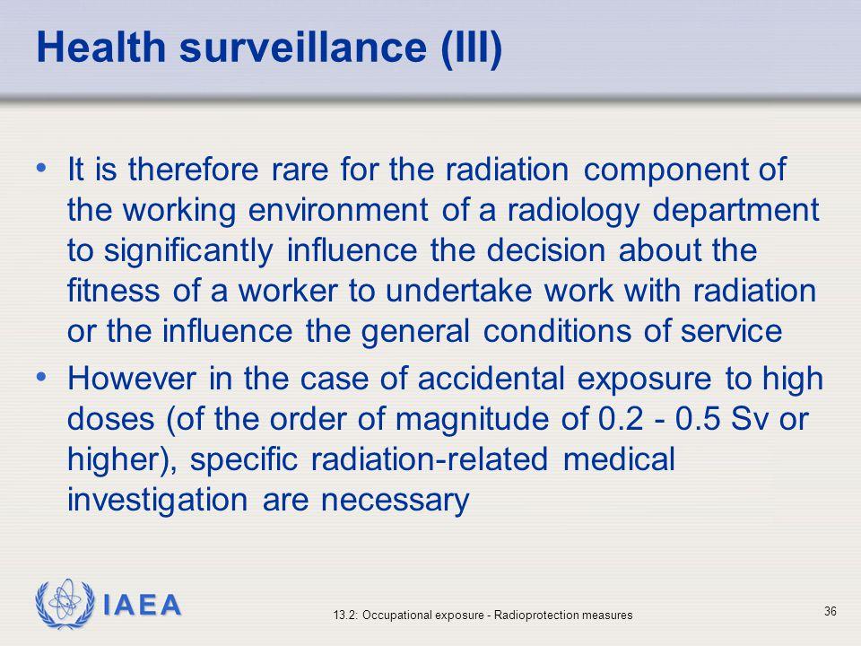 Health surveillance (III)