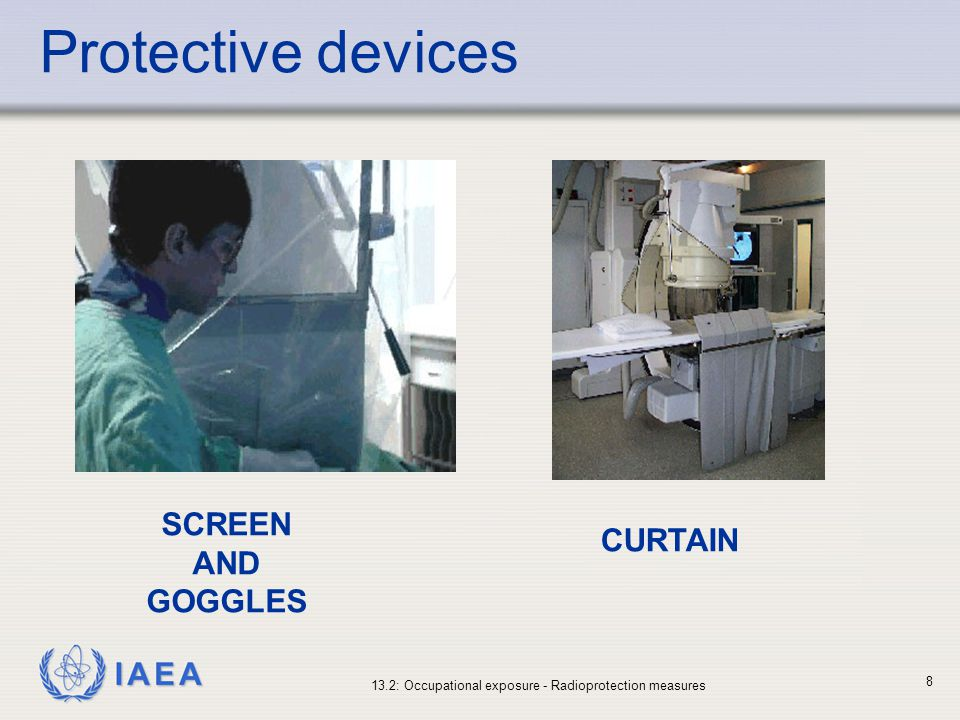 Protective devices SCREEN AND GOGGLES CURTAIN