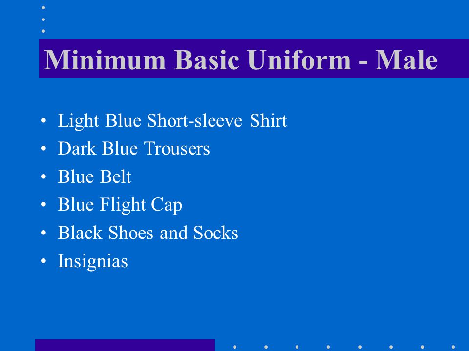 Minimum Basic Uniform - Male