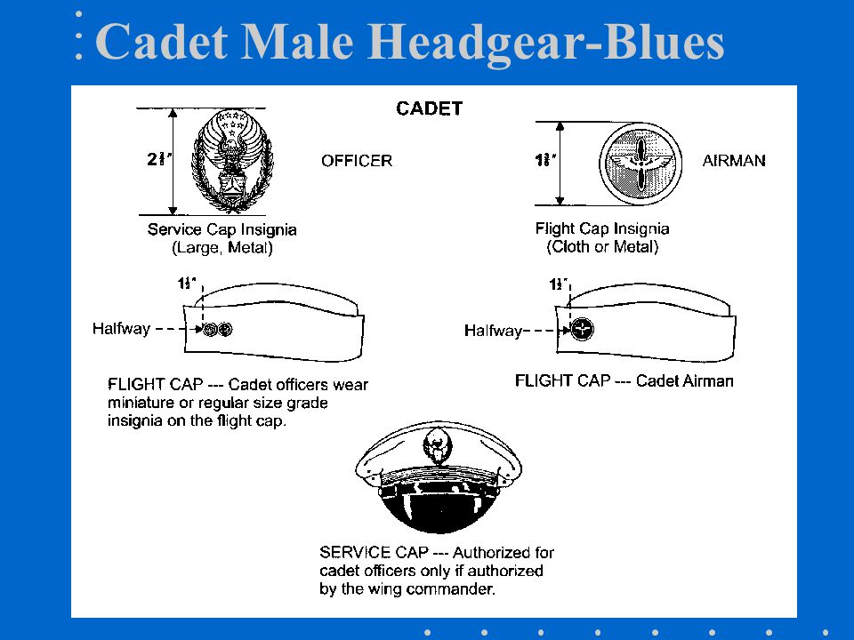 Cadet Male Headgear-Blues