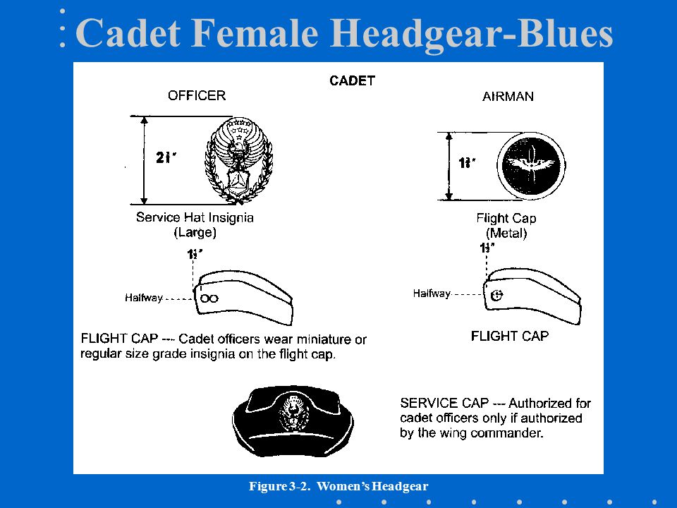 Cadet Female Headgear-Blues