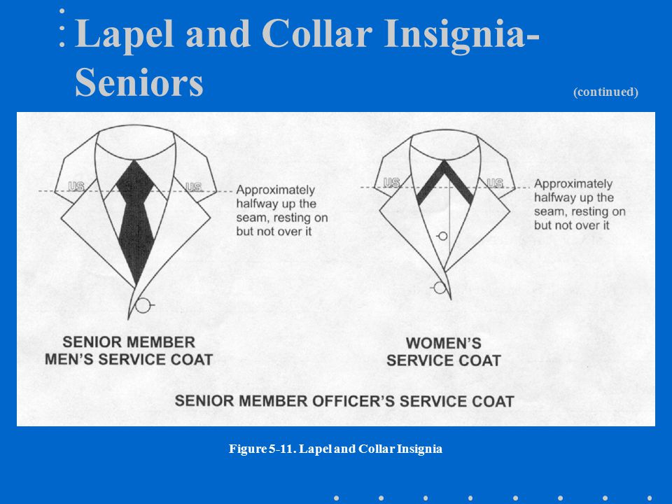 Lapel and Collar Insignia- Seniors (continued)