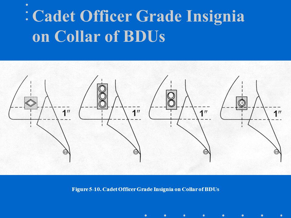 Cadet Officer Grade Insignia on Collar of BDUs