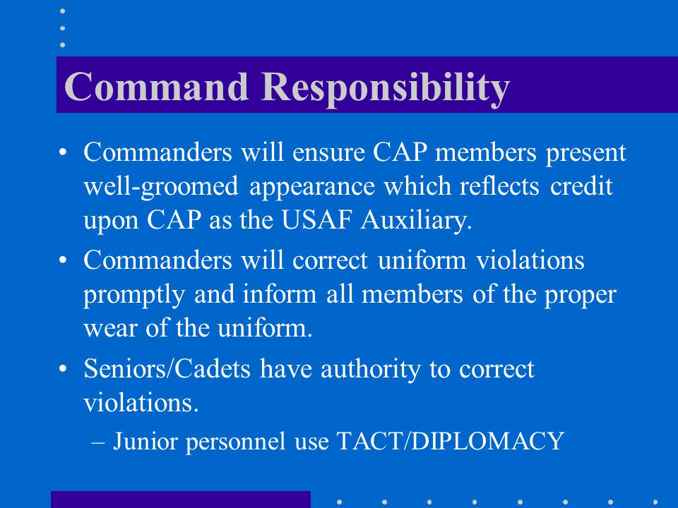 Command Responsibility