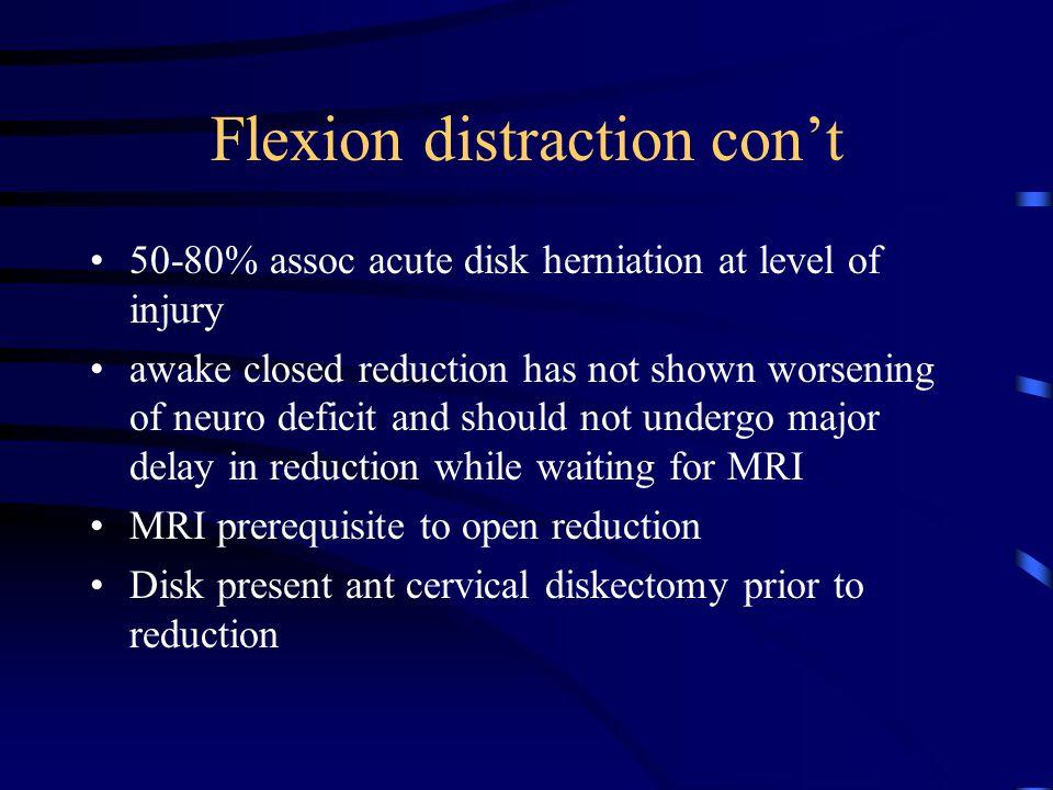 Flexion distraction con't