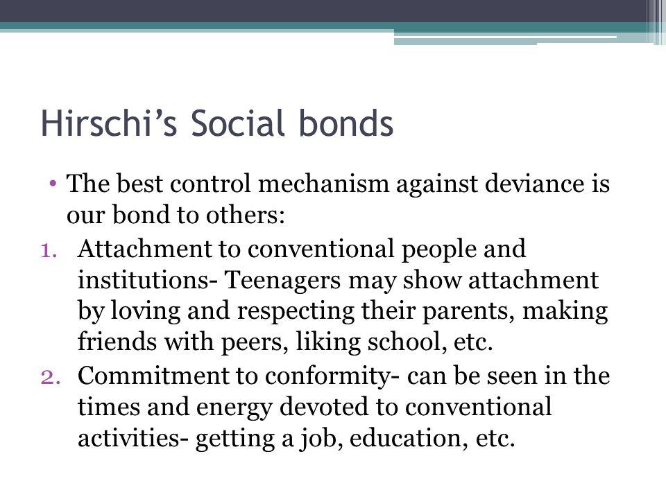 Hirschi's Social bonds