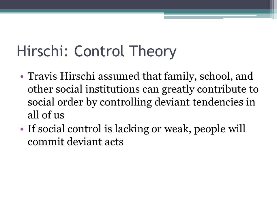 Hirschi: Control Theory