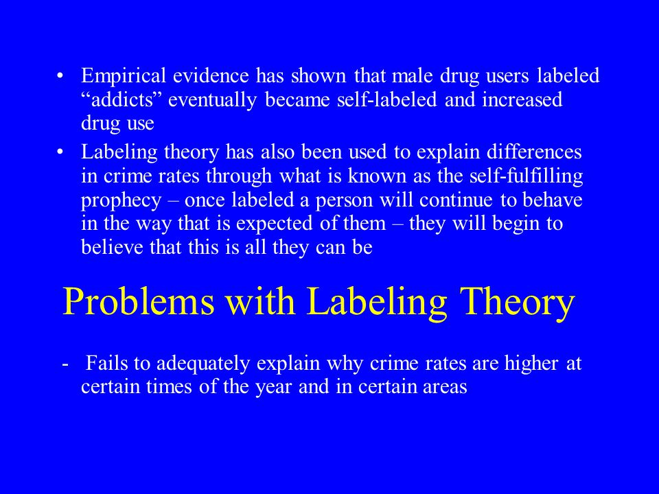 Problems with Labeling Theory