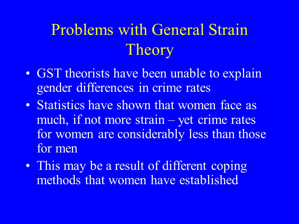 Problems with General Strain Theory