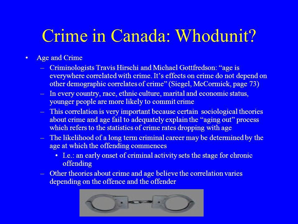 Crime in Canada: Whodunit