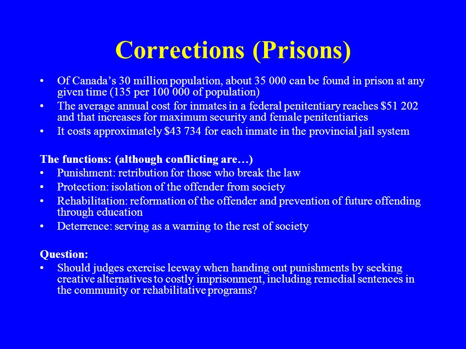 Corrections (Prisons)